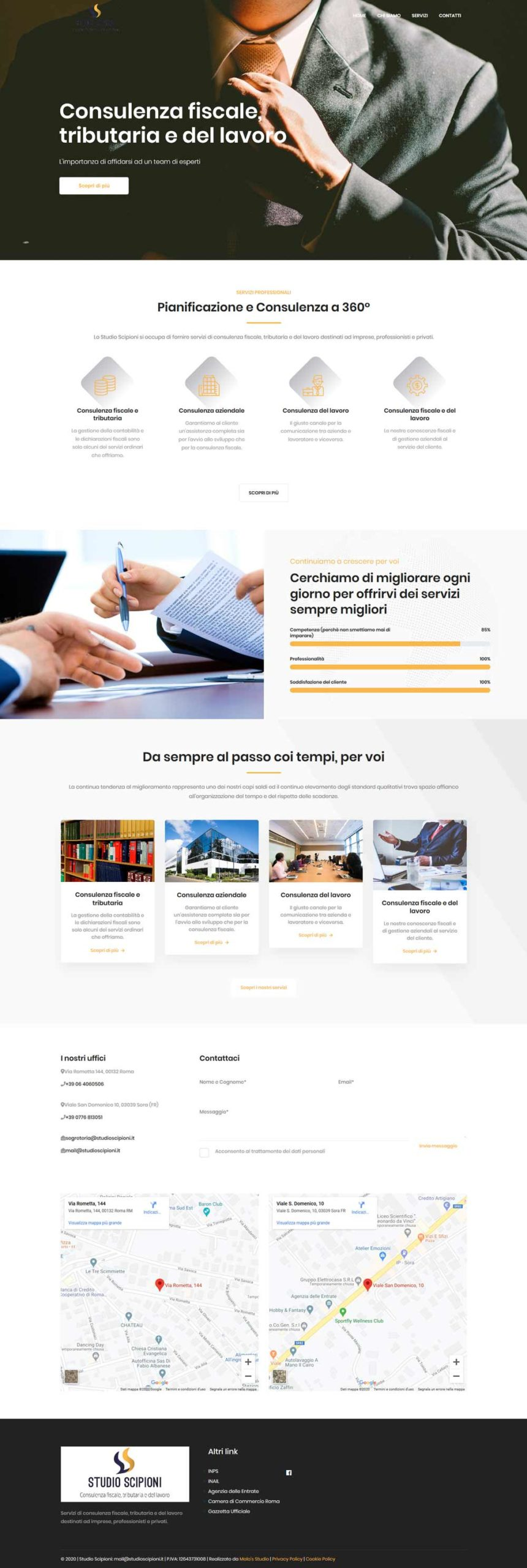 Restyling sito web professionale